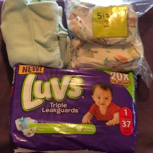 Size 1 diapers  Size 2 in bag 1 Swagler